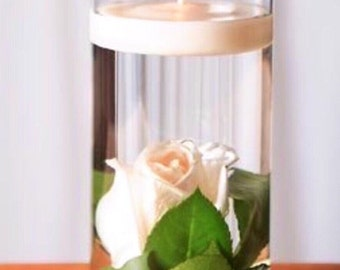 3 piece floral floating candle centerpiece set