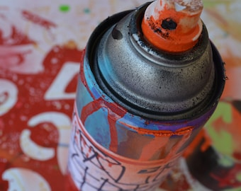 Original Street Art Sculpture Spray Can Signed Graffiti Recylced Urban Abstract