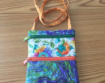 Cross body bag Flowers & Swirls