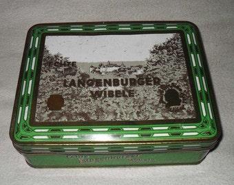 Beautiful and Rare German Tin Can - Langenburg Wibele - Little Cakes - Art Nouveau Motive - Around 1970