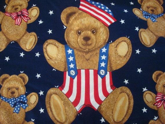 Vintage Hallmark Cards Wamsutta Usa Patriotic Bear Large