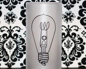 Vintage Light Bulb Candle Holder