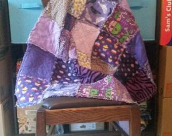 Pretty in Purple Mini Rag Quilt