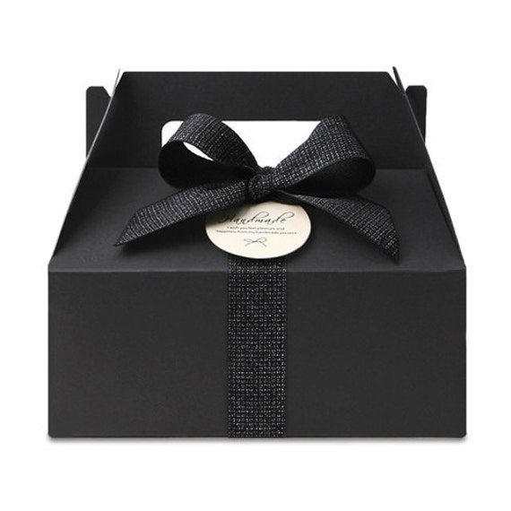 5 x black gable boxes with muffin trays medium size for Black box container studios