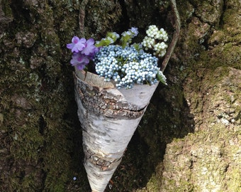 Birch Bark Cones Made to Order for Wedding Pew Decor, Garden Parties and General Decor