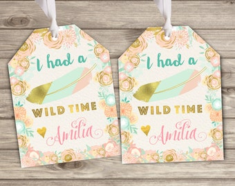 Favor Tags Wild One theme Tribal Thank You Tags TT2237