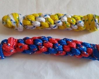 Braided Rope Bone, Handmade Braided Dog Toy, Braided Chew Toy