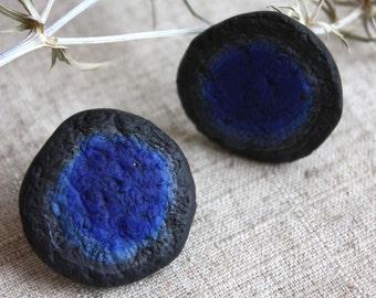 Earrings buttons. Earrings polymer clay.
