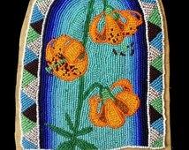 Art Card, Beaded Moccasin Top---Tigerlily