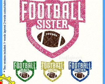 Football SVG football sister svg football brother svg football mom svg Football Dad svg Football family SVG football shirt svg
