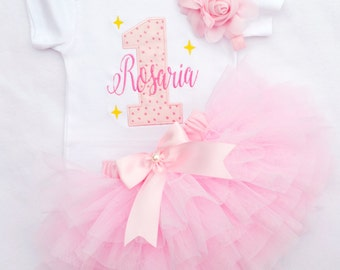 First birthday girl outfit,first Birthday dress,Twinkle twinkle Star birthday outfit,girl cake smash,one year old girl birthday outfit
