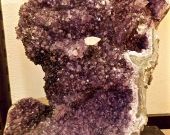 RARE huge Amethyst pinhas, extraordinary Amethyst with tip calacite (dog tooth) * COLLECTION *.