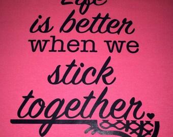 Girls Lacrosse Neon Tshirt