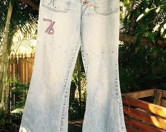 Vintage 70s bellbottom denim jeans
