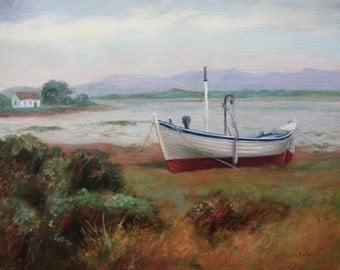 Ireland, County Mayo, Oil Painting, Seascape, Original