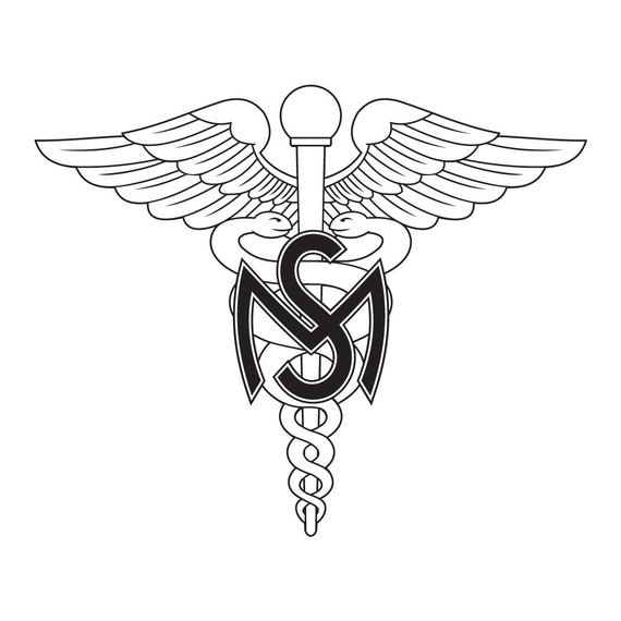 us army medical service corps emblem decal on 3m reflective