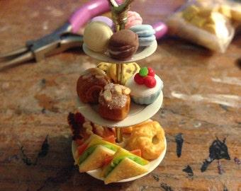3-tier Tea Tray Necklace