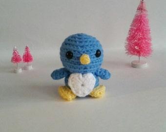Baby Bird Amigurumi Crochet Bird, Wild Bird, Plush Bird, Baby Bird, Cute Bird, Kawaii Gift, Rain forest Nursery,Forest Nursery