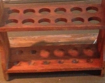 Vintage Wooden Test Tube Holder/Stand/Lab Test Tube Rack