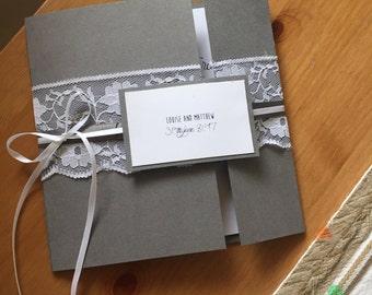 Wedding lace invitation