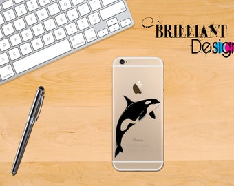 Orca Whale, Vinyl, iPhone Decal for iPhone, Sticker for iPhone 7, iPhone 6 Decal, iPhone 6s, iPhone 6s Plus, Gift, For her, For Him, geekery