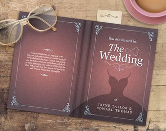 Personalised Storybook Wedding Save the Date, Invitation & Information Booklet, RSVP bookmark