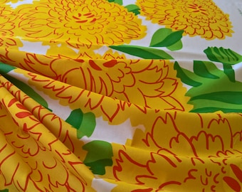Marimekko PRIMAVERA 100% Cotton Finland Maija Isola Design Yellow By the Yard!