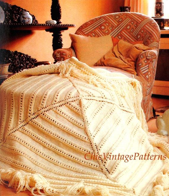 Knitting Pattern Afghan Rug : Knitted Afghan Rug .... Geometric Afghan .... PDF Knitting