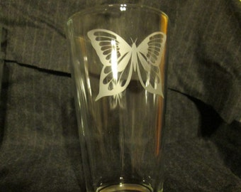 Butterfly Pint Glass, Perfect Mother's Day Gift Idea