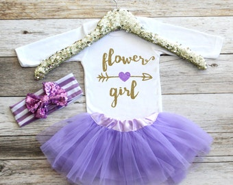 Personalized Flower Girl Shirt Baby Girl Clothes Flower Girl Gift Purple and Gold Flower Girl Shirt Wedding Shirt Flower Girl Shirt