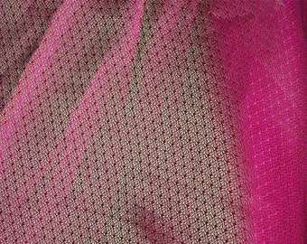 Magenta Gold motifs Weaving Brocade Fabric- Brocade Fabric - Indian Art Silk Fabric by the Yard,Wedding Dress Fabric, banarasi silk fabric