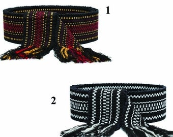 READY TO SHIP! Ukrainian Woven Belt, Krajka, Woven Sash, Black & Red / Black and White