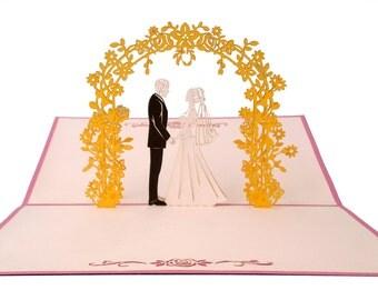 Wedding Day Pop Up Card, Wedding Card, Wedding Day Card, Love, Anniversary Card, Anniversary Pop Up Card, Engagement Card, Happy Anniversary