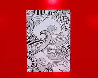 Pack of 3 coloring cards