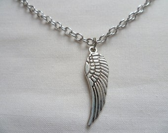 Wing necklace,angel wing necklace,guardian angel wing pendant,gift for her, silver wing necklace,wing jewellery,silver wing pendant