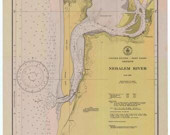 Nehalem Bay Oregon Historical Map 1947