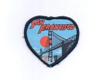 Vintage I Love San Francisco ( I left my heart San Francisco) Golden Gate Patch