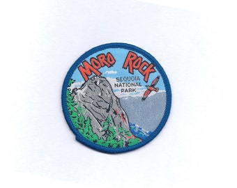 Vintage Moro Rock Sequoia National Park Patch