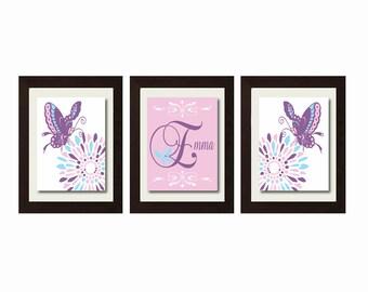 Girls Nursery Decor, Purple Nursery Decor, Butterfly Nursery Decor, Butterfly Nursery Wall Art, Baby Girl Nursery Decor,