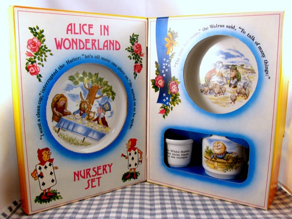 Vintage 1970s Johnson And Brothers Alice In Wonderland Nursery