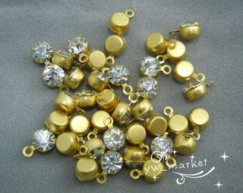 100 Vintage Sparkle Rhinestone Daggle Beads SS16 4mm