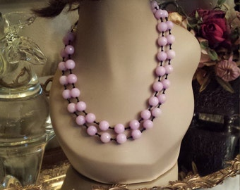 Two strand faceted lavender jade necklace