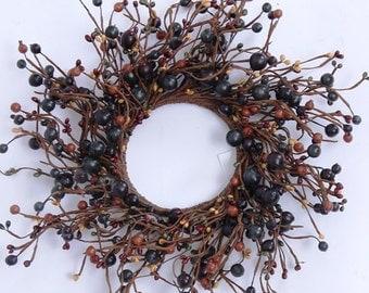 Fall Pip Berry Wreath, Autumn Wreath, Fall Decor, Storm Door Wreath, Front Door Wreath, Rustic Wreath, Primitive Wreath, Fall Centerpiece