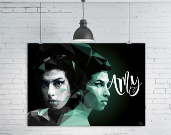 Amy Winehouse Geometric print