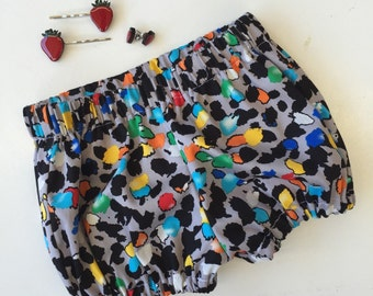 Girl's multi-coloured leopard print shorts