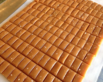 1 lb. Sea Salt Caramels, hand wrapped, bulk bag - Perfect for dessert table, event sweets table, party favors, or your personal candy dish