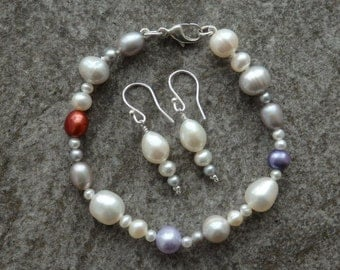 Statement Pearls, Pearl Jewellery, Pearls, Pearl Bracelet, Pearl Earrings, Matching Pearls, Classic Pearls