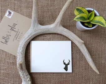 Whitetail Deer - Buck Stationery - Set of 12 Correspondence Cards