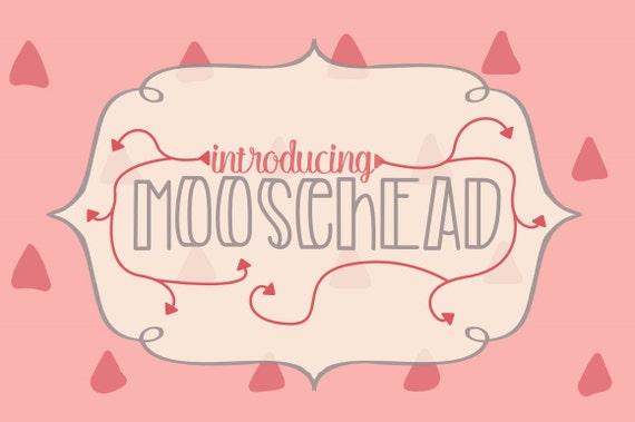 Font! Moosehead Tall Font face Typeface font family script font font bundle cheap font affordable font sale clearance bundles sans serif