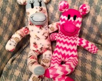 Make your own sock monkey kit